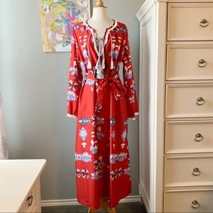 Dresses & Skirts - NWOT 70s Boho Tassel Caftan Maxi Dress